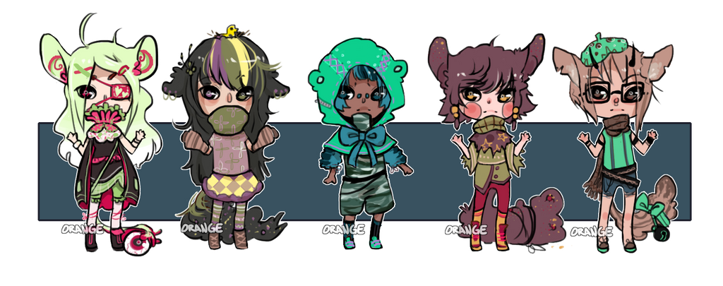 Closed: Chibi adoptables by Stuffed-orange