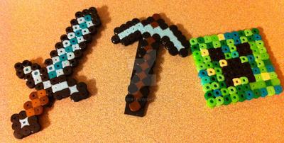 Minecraft Perler Bead Sprite by Viverra1