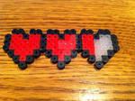 Heart Container Perler Bead
