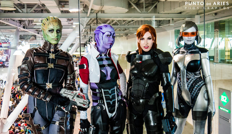 Ladies of Mass Effect by Viverra1