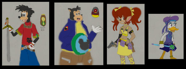 Barecolor Goof Troop KH design by anime-oujo