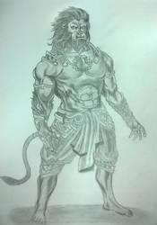 Lord Hanuman by anilnair57