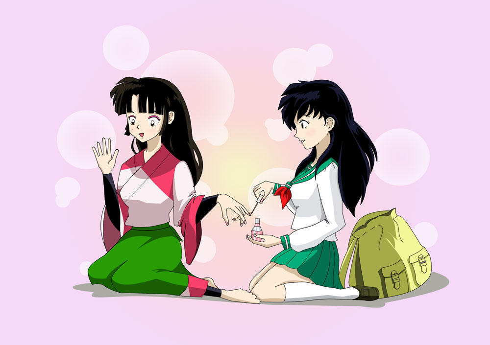 Kagome and Sango, Best Friends by righteousred