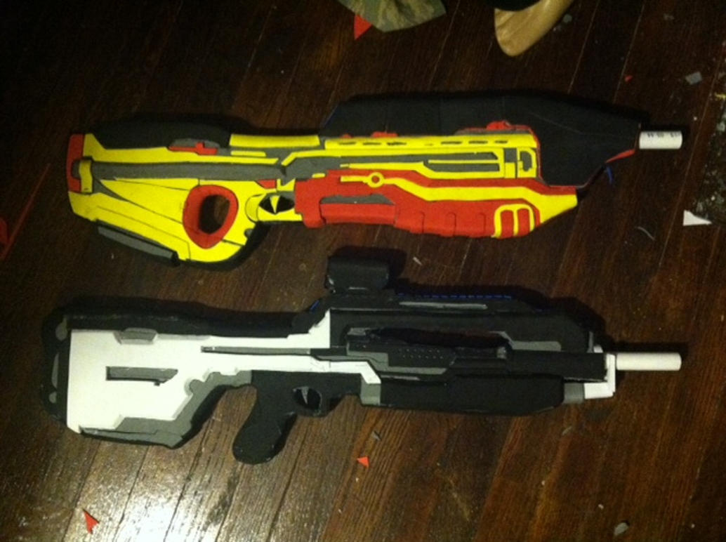 Halo 4 Assault And Battle Rifle Replicas Wip By Sarlume