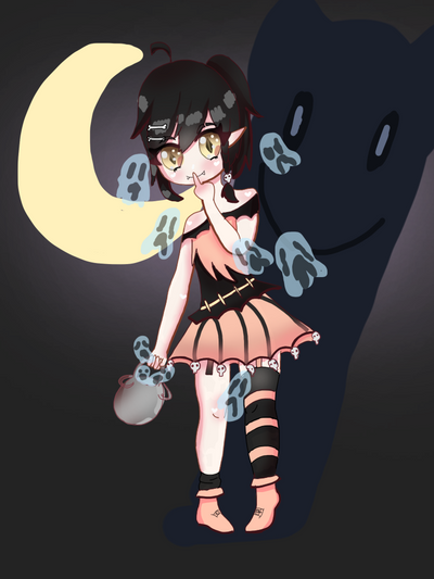 Tiny demon adoptable  by hikikmori