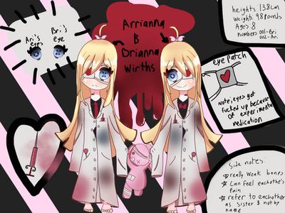 The Wirths twins ref sheet by hikikmori