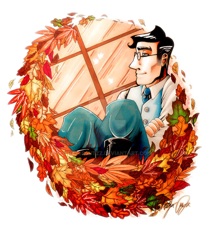 Medic adoring the fall by Papercutzz