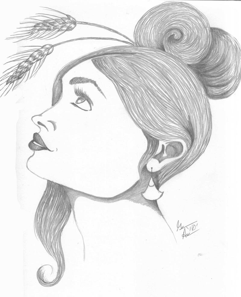 demeter greek goddess drawing - photo #7