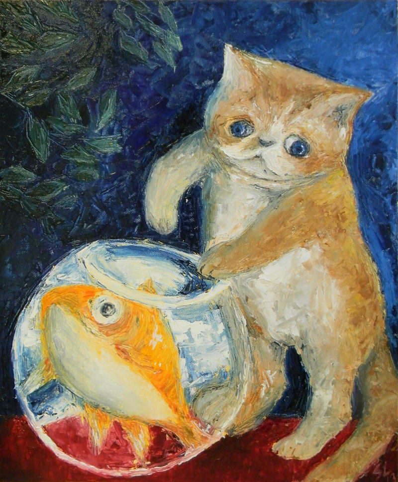 Quite Funny Cat Painting Soyja