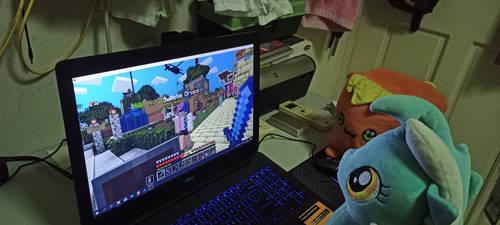 Lyra and AJ Playing Minecraft