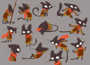 cat model sheet by nounouille