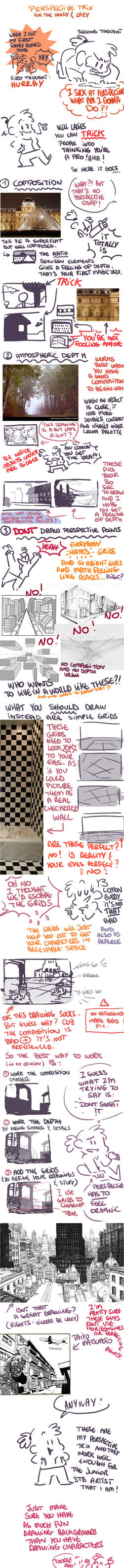 Perspective tutorial (trix for the needy and lazy) by nounouille