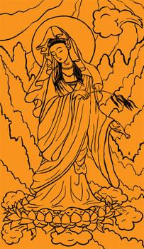 Tarot: Temperance uncoloured