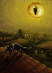 Cat Moon by iscalox
