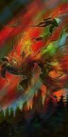 Sun Wukong vs. Baigu Jing by iscalox
