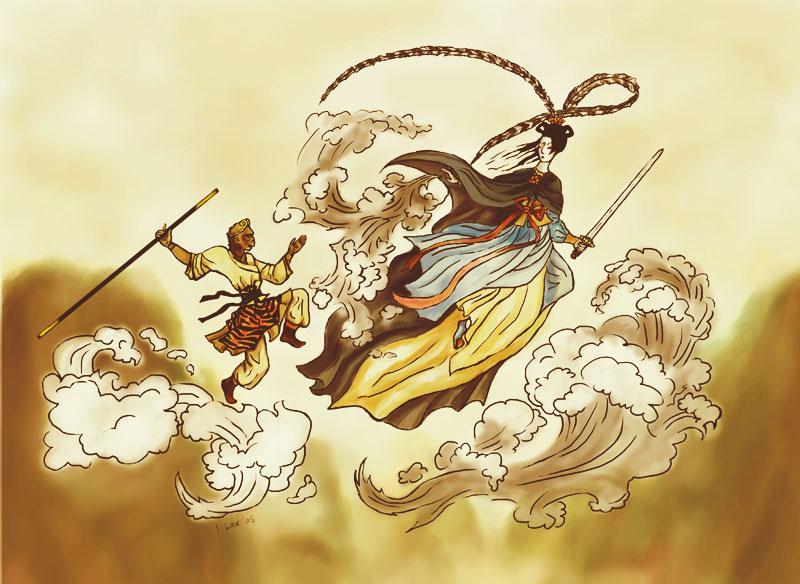 8b48d0772 Qi Tian Da Sheng Sun Wukong by iscalox on DeviantArt