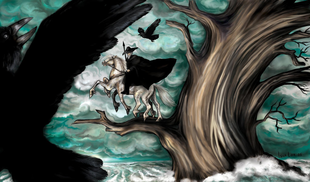 Odin on Sleipnir by iscalox on DeviantArt