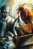 Runes and Coffee by iscalox