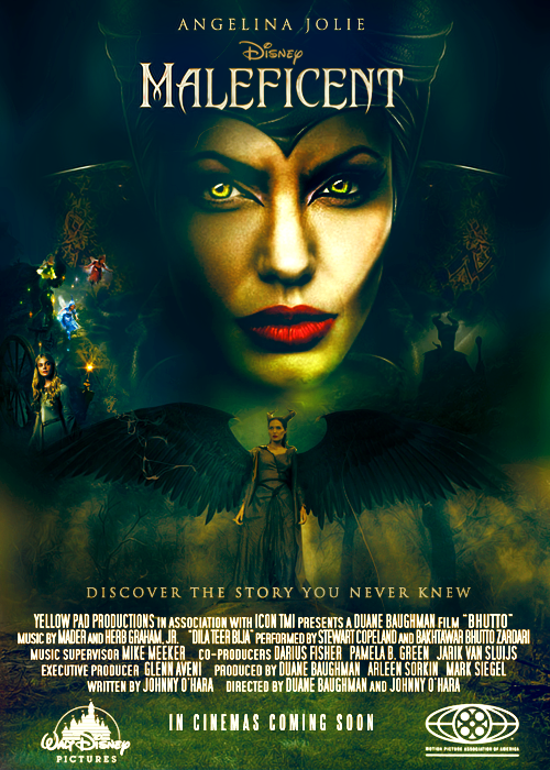 Maleficent Movie Poster And Time Lapse Video By Shad Designs