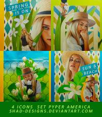 4 Icons Set Model Pyper America