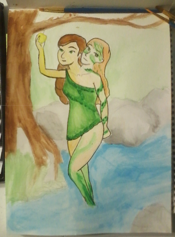 Naiads (painting) by abigailFrizzes