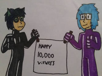 Happy 10,000 page viewers by hallowsjojo2000