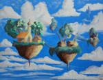 Floating Village by Qodaet