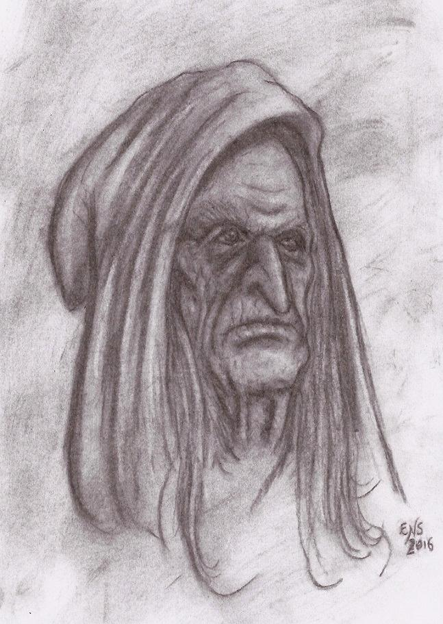 Old Hooded Woman by Qodaet
