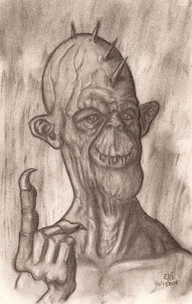 Smiling Monster by Qodaet