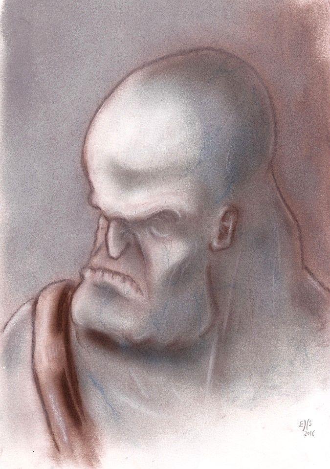 Grotesque Bluish Man by Qodaet