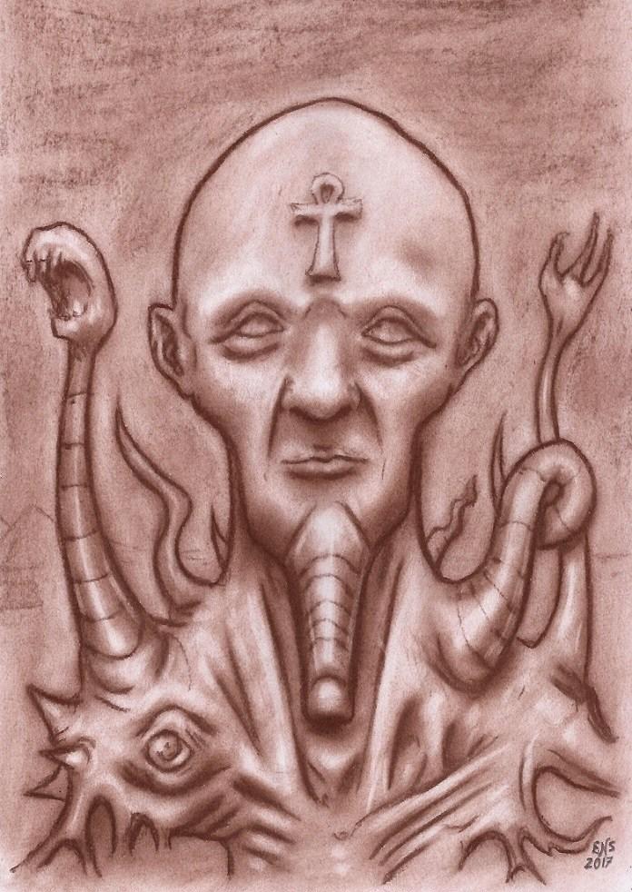Nyarlathotep (Semi-Human Form) by Qodaet