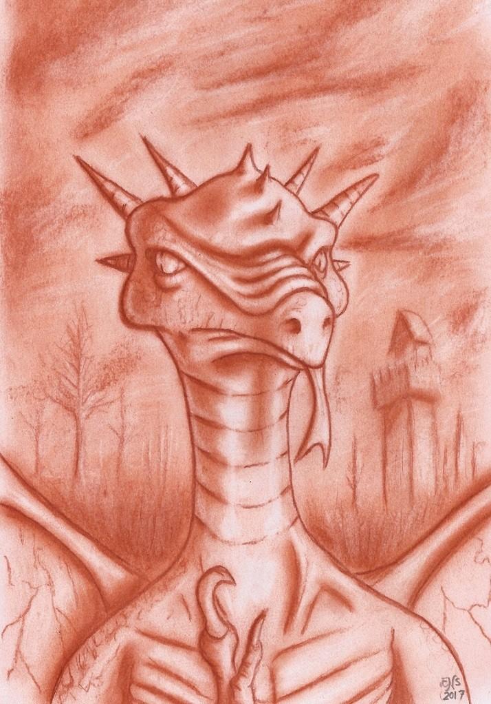 Portrait of a Dragon by Qodaet