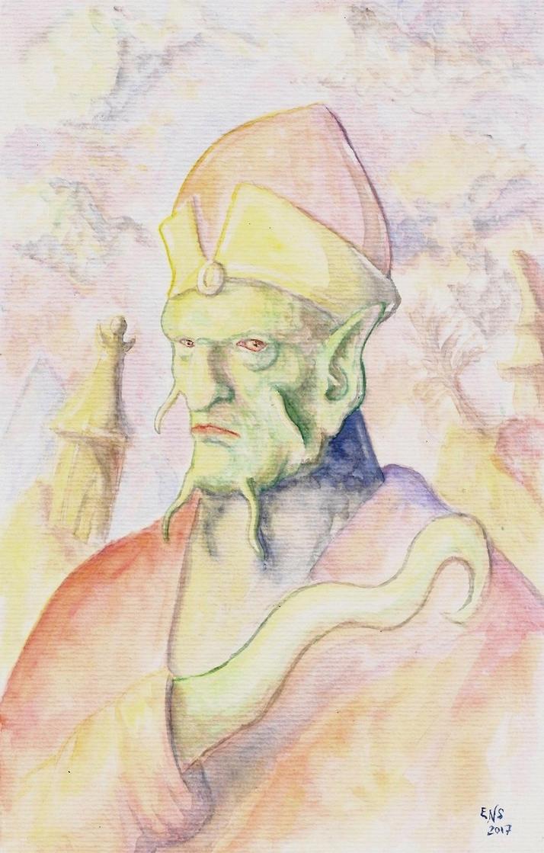 Tentacled Priest by Qodaet