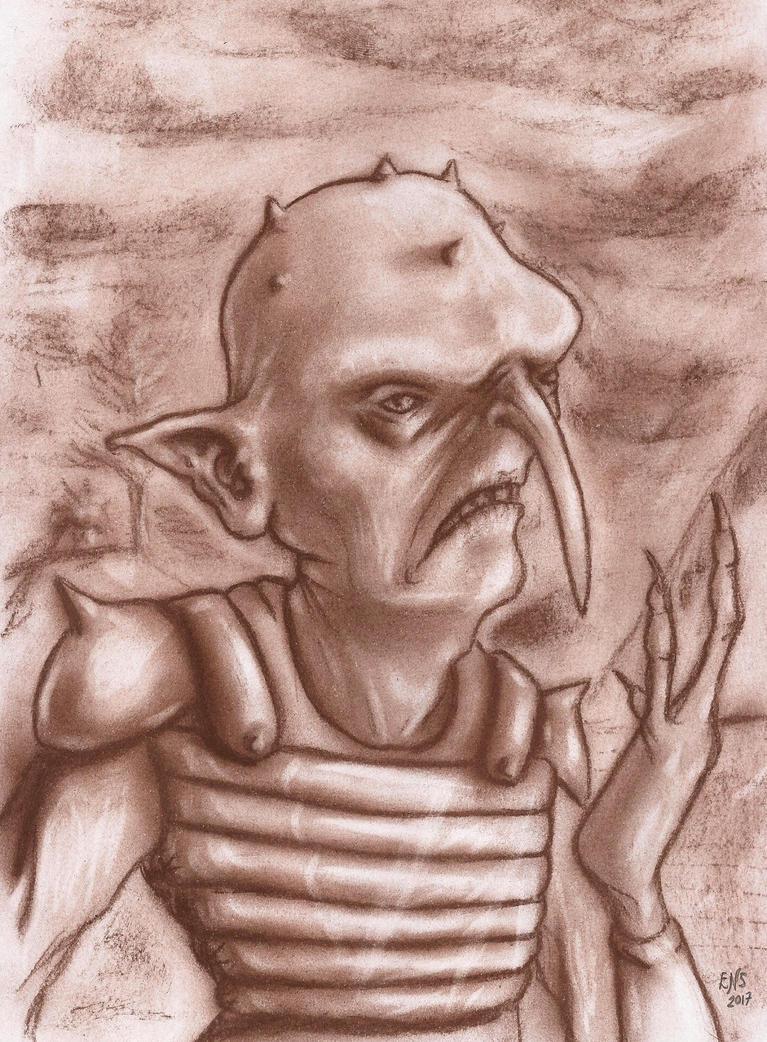 Goblin Warrior by Qodaet