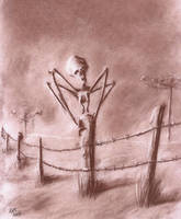Creature on the Fence by Qodaet