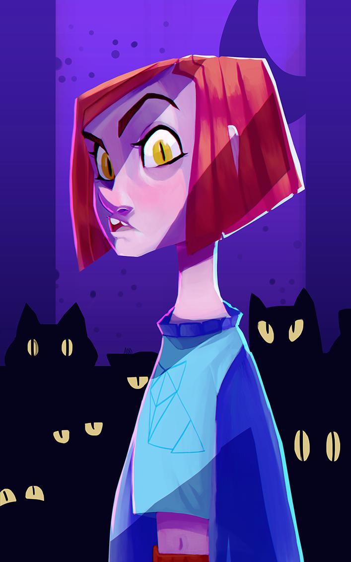 Cat Girl Moonsmol by LTBones