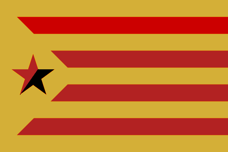 new Catalonia flag part 3 by weatheradult