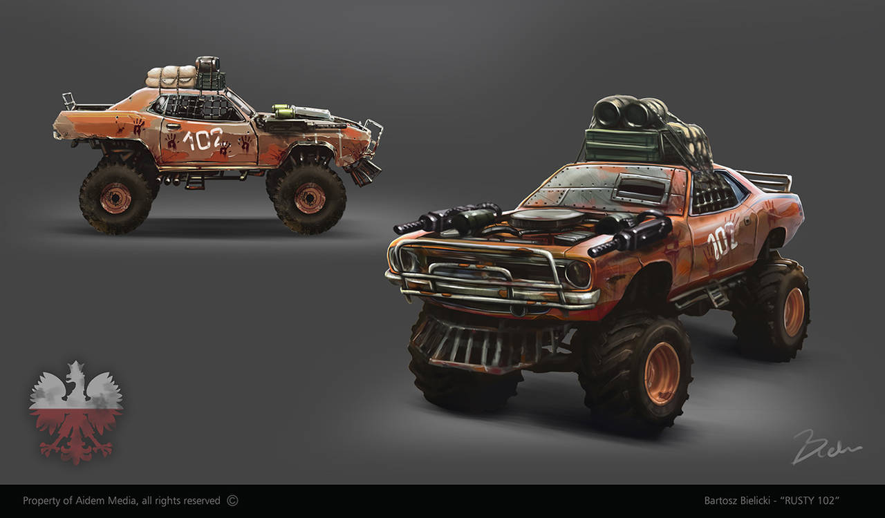 Rudy 102 - post apocalyptic vehicle concept by bartekgraf