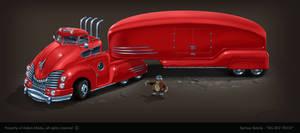 Big Red Truck :) by bartekgraf