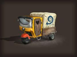 Moles Town postal vehicle by bartekgraf