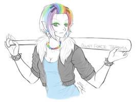 Rainbow Punk by ESCanime