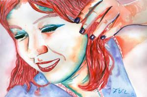 Chica del cabello de fuego... by FaabsVazLop