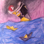 paper boats day 5 drawing challenge! by mermaid554