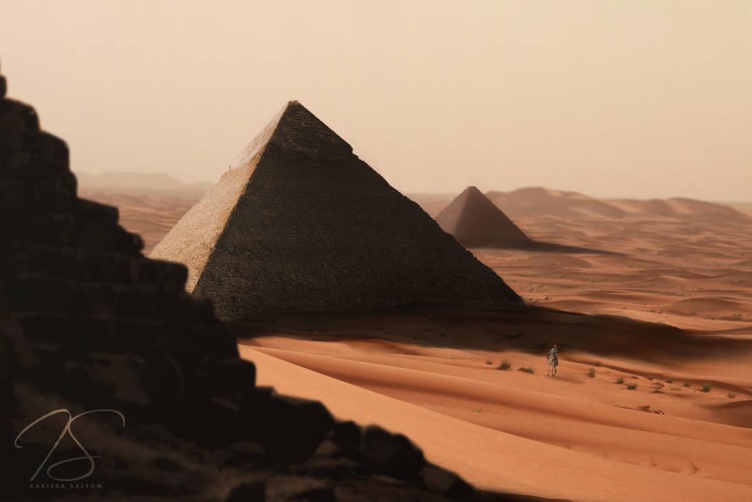 Great Pyramid of Giza by Karissa-Salton