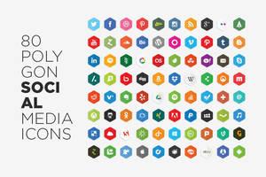 Free Vector Polygon Social Media Icons
