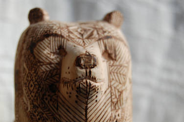 wooden totem - bear 2