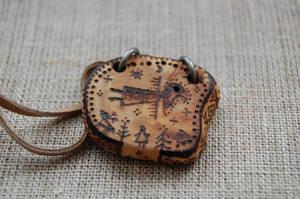 shaman-bird pendant