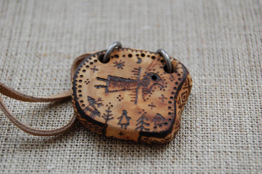 shaman-bird pendant by sudrabs