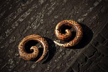 wood spirals