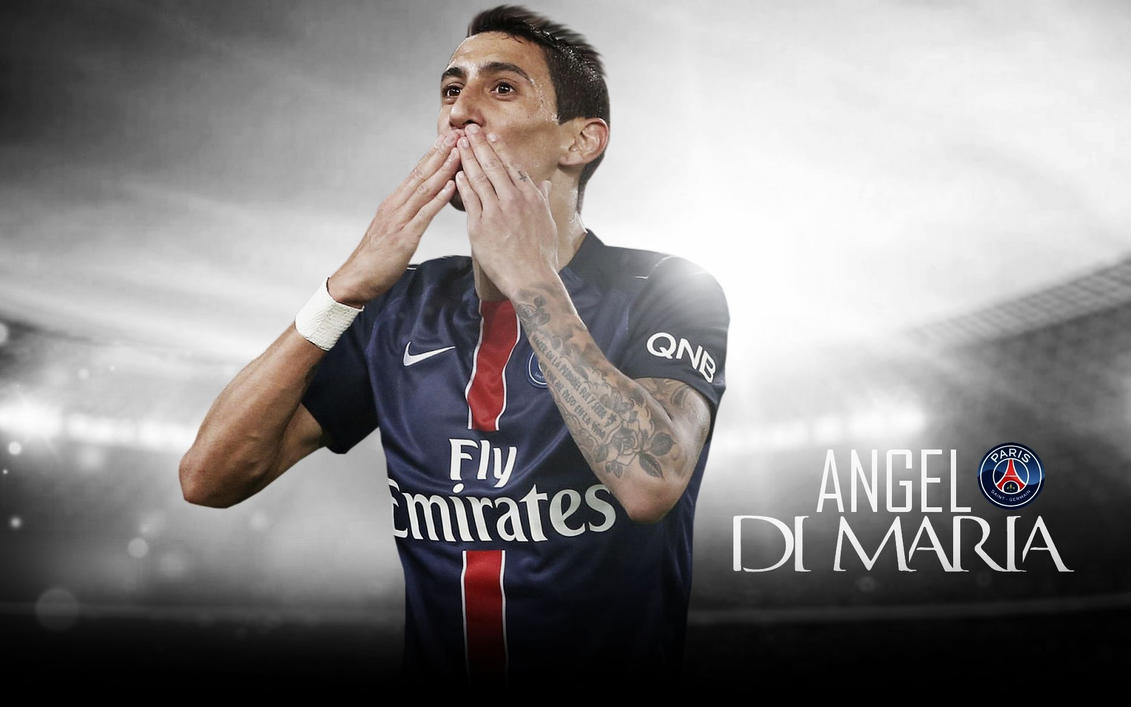 Angel Di Maria Wallpaper 2015 16 PSG By ChrisRamos4GFX